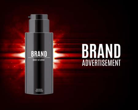 Cosmetic ads design, realistic illustration. Illustration