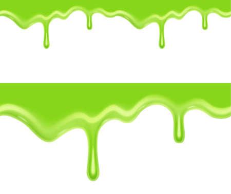 Seamless green slime. EPS10 vector