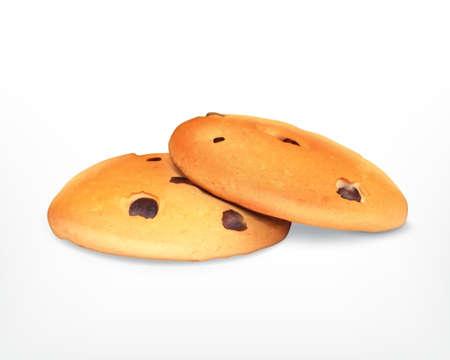 Schokoladenkekse. Vektor-Symbol. EPS10