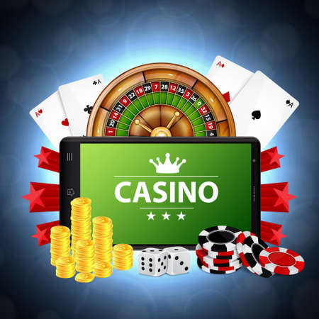 Online casino concept Stock Illustratie