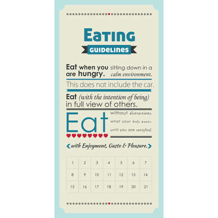 Eating guidance poster Vector