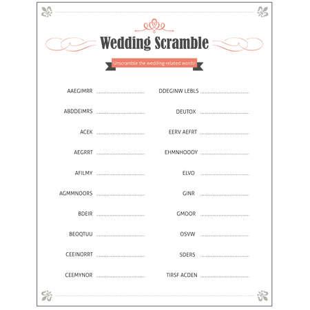 scramble: Wedding Scramble