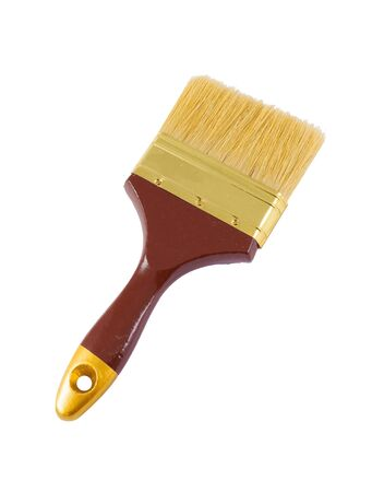 Brown paint brush isolated