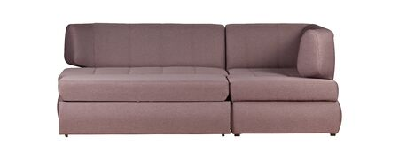 Light purplr sofa isolated on white
