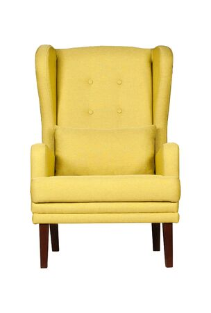 Yellow modern chair isolated on white background Stockfoto - 130560252