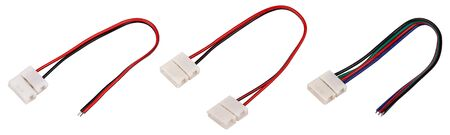 LED strip tape connectors set on white Reklamní fotografie