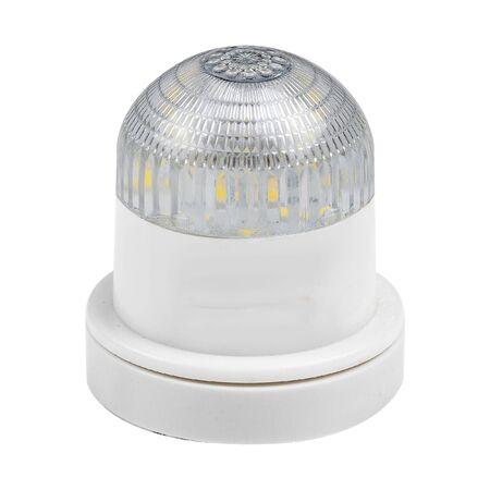 LED strobe light isolated on white.