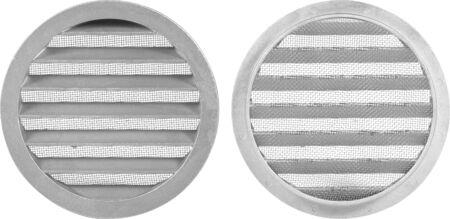 Circle vent window girill on white background. 版權商用圖片