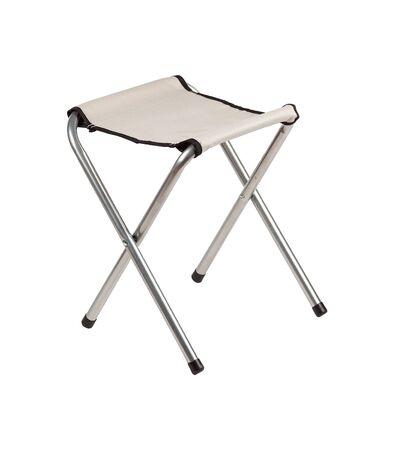 White folding camping stool isolated on white. Stock fotó