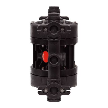 New black plastic double diaphragm pump isolated on white background