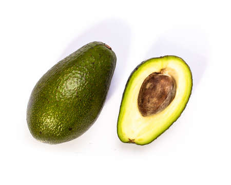 Avocado isolated on white background. Foto de archivo