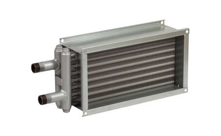 Industrial air Heater isolated on white background. Foto de archivo