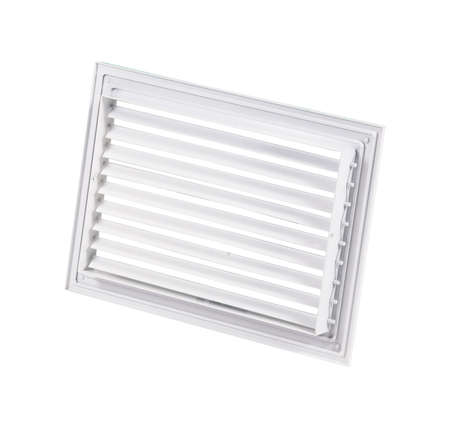 Supply and exhaust ventilation grilles on white background. Foto de archivo