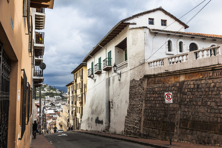 humanities: House on top of the old Quito, Ecuador