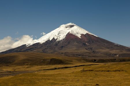 nevado: Valley of Cotopaxi National Park with its volcano in the background