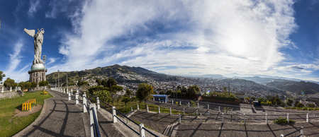Large panorama of Quito view from Panecillo, Ecuador