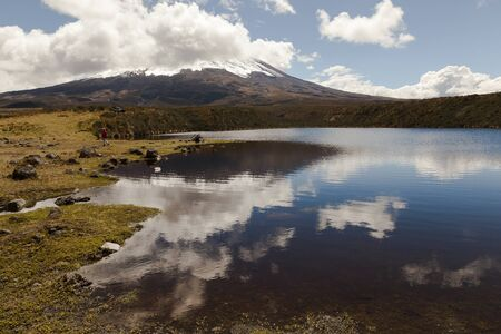 high sierra: Laguna Santo Domingo in the Cotopaxi National Park