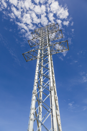 postes: steel towers for power transmission Stock Photo