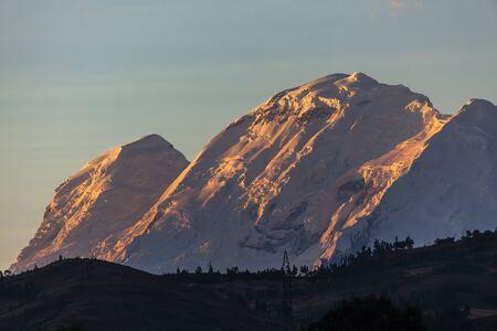 blanca: Huascaran peak in Cordillera Blanca