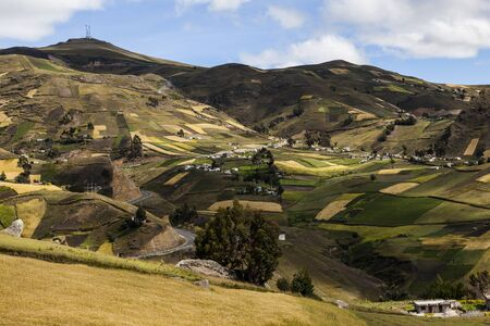 hillsides: Crops on hillsides around Zumbahua province of Cotopaxi, Ecuador