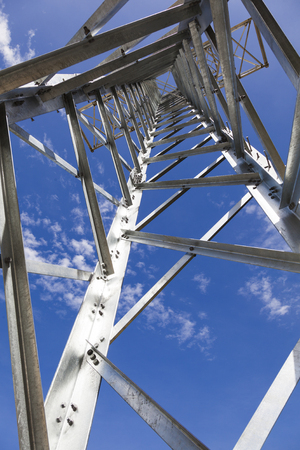 steel structure: steel structure tower transmission Stock Photo