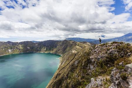 crater lake: Quilotoa crater lake, Cotopaxi, Ecuador