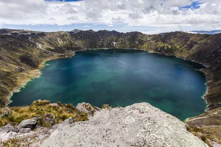 crater highlands: Quilotoa crater lake, Cotopaxi, Ecuador