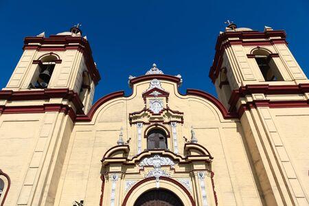 san agustin: Historic San Agustin Church in the Spanish colonial city of Trujillo, Peru Stock Photo