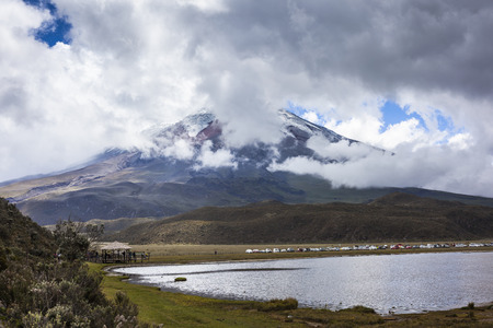 Cotopaxi, Ecuador - January 2, 2016: Hundreds of people visit the Cotopaxi National Park on the day of its reopening, after the period of eruptions of the volcano Editorial