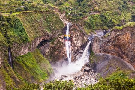 Meeting two waterfalls, Agoyan the Pastaza River During waterfall