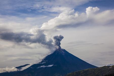 erupting: Tungurahua volcano erupting