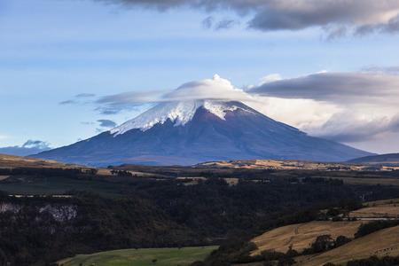 eruption: Cotopaxi volcano eruption seen from Quito, Ecuador