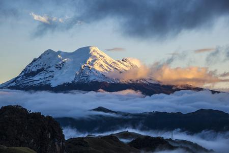 Antisana volcano at sunset