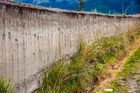 Compacted earth wall, tapial, handmade construction in the rural areas
