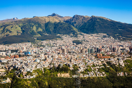 Panorama of Quito capital of Ecuador