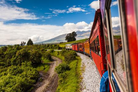 Ecuadorian railroad crossing the Sierra region