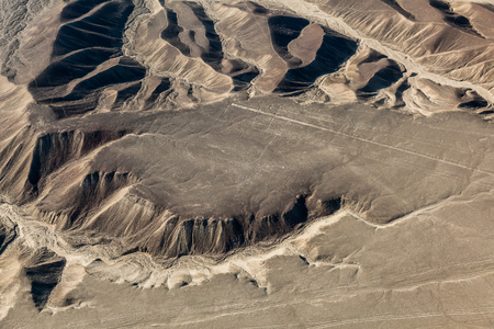 Aerial view of the Nazca Lines, the hummingbird, Peru