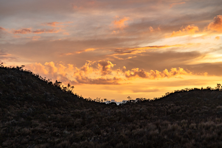 Dramatic Andean sunset in the Cotopaxi National Park