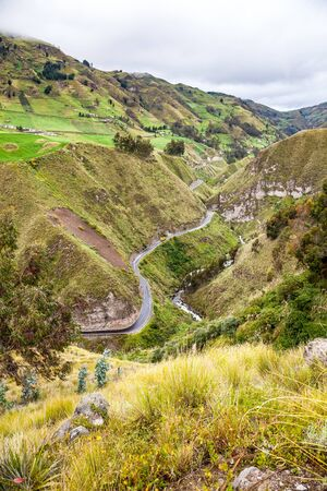 Vía Flores, old road from Ambato to Guaranda, next to the Ambato river, through the Andean highlands.