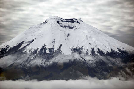 highest: Cotopaxi is the highest active volcanoe in the world Stock Photo