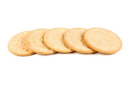 흰 배경에 고립 된 파일럿 빵 비스킷