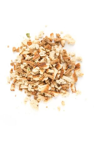 stuffing: Bread and seasonings stuffing isolated on white background Stock Photo