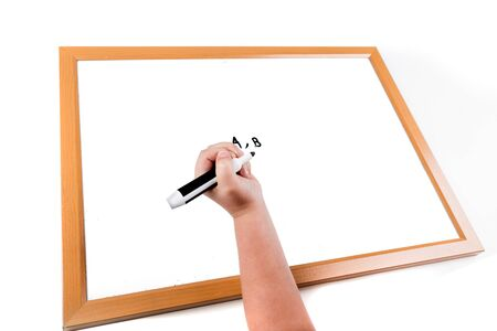 erase: Child writing on a dry erase board with a marker