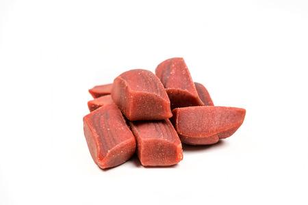 morsel: Meaty dog treats isolated on white background