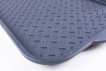 Tough durable diamond plate tray black rubber