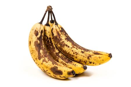 熟れバナナの孤立した白い背景の束