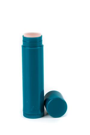 Chapped lips moisturizer stick isolated on white background