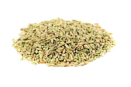 enhancer: Whole fennel seed isolated on white background