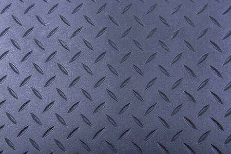Tough durable diamond plate black rubber background Banco de Imagens