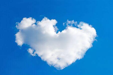 One big and white cloud looks like a heart photo